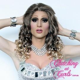 Medium 45cm Balayage Synthetic Lace-Front Wig