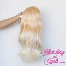 Medium 45cm Straight Peaches & Cream Synthetic Extension