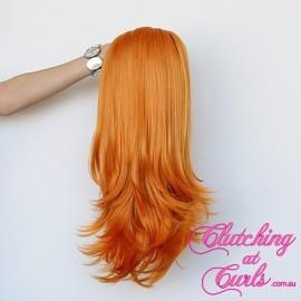 Medium 45cm Straight Orange Synthetic Extension