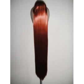 70cm Orange Brown Ponytail Extension