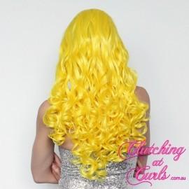 Long 60cm Gaga Yellow Synthetic Extension